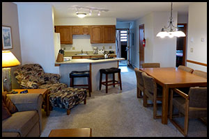 living room and kitchen at Indian Peaks unit